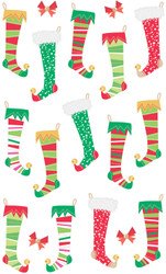 Christmas Stockings Epoxy Stickers by Sandylion - 18 Stickers