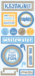 Tropical Collection Kayaking Stickers by Scrapbook Customs