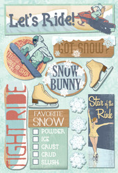 Winter Sports Collection Snow Bunny Cardstock Sticker Sheet by Karen Foster Design