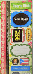 Puerto Rico Paradise Collection Cardstock Sticker Sheet by Scrapbook Customs