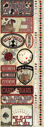 Signature Series 4 Collection House Of Cards Cardstock Sticker Sheet by Reminisce