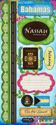 Bahamas Paradise Collection Cardstock Sticker Sheet by Scrapbook Customs