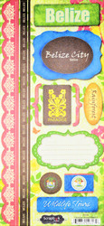 Paradise Collection Belize Cardstock Sticker Sheet by Scrapbook Customs