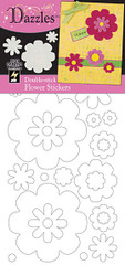 Dazzles Collection Double-Stick Flower Stickers by Hot Off The Press