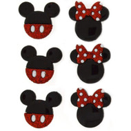 Disney Dress It Up Collection Mickey & Mini Icons Scrapbook Button Embellishments by Jesse James Buttons