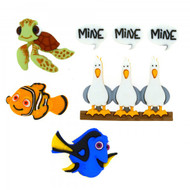 Disney Dress It Up Collection Finding Nemo Scrapbook Button Embellishments by Jesse James Buttons
