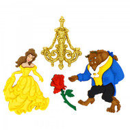 Disney Dress It Up Collection Beauty & The Beast Scrapbook Button Embellishments by Jesse James Buttons