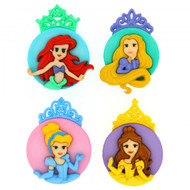 Disney Dress It Up Collection Princess Scrapbook Button Embellishments by Jesse James Buttons