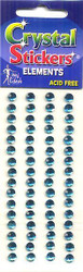 Teal Large Round Crystal Stickers by Mark Richards USA