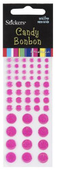 Hot Pink Candy BonBon Stickers by Mark Richards USA