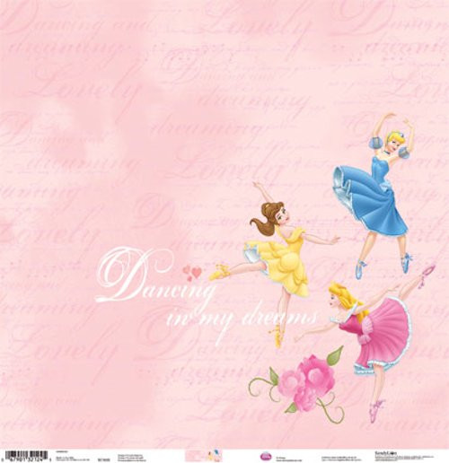 Disney Princess Collection Disney Princesses Dancing In My Dreams 12 x 12 Scrapbook Paper by Sandylion
