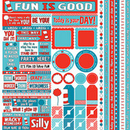 Wacky & Wild Collection 12 x 12 Scrapbook Sticker Sheet by Reminisce