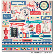 Yacht Club Collection 12 x 12 Cardstock Sticker Sheet by Carta Bella