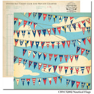 Yacht Club Collection Nautical Flags 12 x 12 Double-Sided Scrapbook Paper by Carta Bella