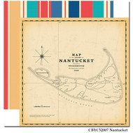 Yacht Club Collection Nantucket 12 x 12 Double-Sided Scrapbook Paper by Carta Bella