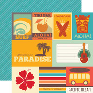 Island Paradise Collection Journaling Cards 12 x 12 Double-Sided Scrapbook Paper by Echo Park Paper