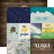 Stateside Collection Alaska 12 x 12 Double-Sided Scrapbook Paper by Echo Park Paper