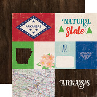 Stateside Collection Arkansas 12 x 12 Double-Sided Scrapbook Paper by Echo Park Paper