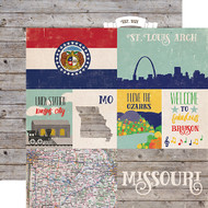 Stateside Collection Missouri 12 x 12 Double-Sided Scrapbook Paper by Echo Park Paper