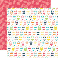 Summer Party Collection Bikini Season 12 x 12 Double-Sided Scrapbook Paper by Echo Park Paper