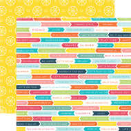 Summer Party Collection Vacation Time 12 x 12 Double-Sided Scrapbook Paper by Echo Park Paper