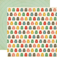 Teacher's Pet Collection Backpacks 12 x 12 Double-Sided Scrapbook Paper by Echo Park Paper