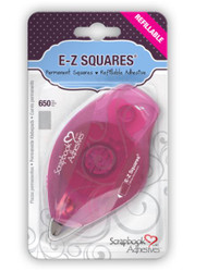 E-Z Squares Permanent Refillable Adhesive Dispenser by Scrapbook Adhesives - 650 Pieces