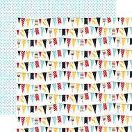 Magical Adventure Collection Festive Banners 12 x 12 Double-Sided Scrapbook Paper by Echo Park Paper