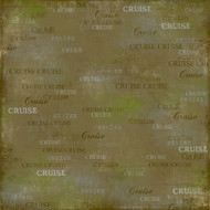 Cruise Collection Jungle Cruise Right 12 x 12 Scrapbook Paper by Scrapbook Customs