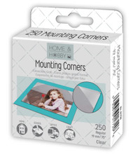 "Home & Hobby Collection .75"" Regular View Clear Mounting Corners by 3L - 250 Pieces"