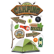 Camping 3-D Glitter 5 x 7 Scrapbook Embellishment by Paper House Productions