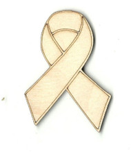 "Awareness Ribbon 6"" Laser Cut Wood Embellishment by The Wood Shape Store"