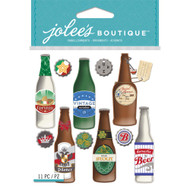 Beer Bottles 4 x 6 Scrapbook Embellishment by Jolee's Boutique
