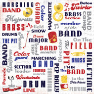 Marching Band Collection Marching Band Collage 12 x 12 Scrapbook Paper by Karen Foster Design