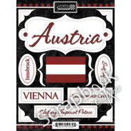 Discover Collection Austria 6 x 9 Scrapbook Stickers by Scrapbook Customs