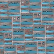 Swim On Collection Swimming Strokes 12 x 12 Scrapbook Paper by Karen Foster Design