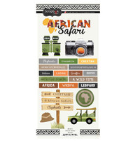 African Safari Collection 5.5 x 12 African Safari Sticker Sheet by Scrapbook Customs
