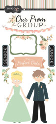 Perfect Prom Collection Our Prom Group 6 x 12 Scrapbook Sticker Sheet by Scrapbook Customs