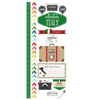 Travel Adventure Collection Italy Adventure 6 x 12 Scrapbook Sticker Sheet by Scrapbook Customs