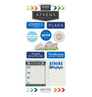 Travel Adventure Collection Athens, Greece Adventure 6 x 12 Scrapbook Sticker Sheet by Scrapbook Customs