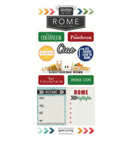 Travel Adventure Collection Rome, Italy Adventure 6 x 12 Scrapbook Sticker Sheet by Scrapbook Customs