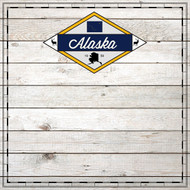 Sightseeing Collection Alaska Wood 12 x 12 Scrapbook Paper by Scrapbook Customs