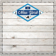 Sightseeing Collection New York Wood 12 x 12 Scrapbook Paper by Scrapbook Customs