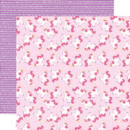 Perfect Princess Collection Magical Unicorn 12 x 12 Double-Sided Scrapbook Paper by Echo Park Paper
