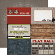 Work Hard, Play Hard Collection 4 x 6 Journaling Cards 12 x 12 Double-Sided Scrapbook Paper by Carta Bella