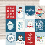 I Love Winter Collection 3 x 4 Journaling Cards 12 x 12 Double-Sided Scrapbook Paper by Echo Park Paper
