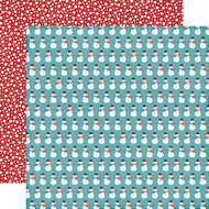 I Love Winter Collection Snowman Friends 12 x 12 Double-Sided Scrapbook Paper by Echo Park Paper