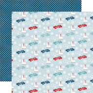 I Love Winter Collection Winter Wonderland 12 x 12 Double-Sided Scrapbook Paper by Echo Park Paper