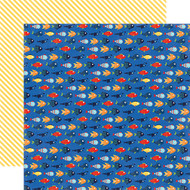 Under The Sea Collection Friendly Fish 12 x 12 Double-Sided Scrapbook Paper by Echo Park Paper