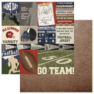 End Zone Collection Go Team 12 x 12 Double-Sided Scrapbook Paper by PhotoPlay